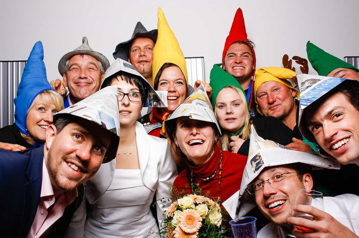 Gäste mit Hut Photobooth